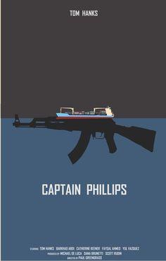 Captain Phillips (2013) ~ Minimal Movie Poster by Joe Fries ~ 2014 Oscar Nominees #amusementphile