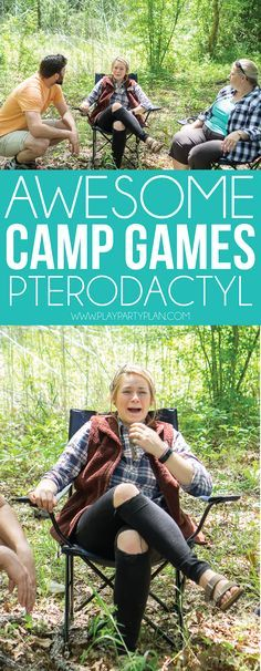 of the Most Fun Camping Games for Any Age - Play Party Plan Fun camp games for adults, for teens, and even for kids! Great games to play indoor, outdoor, or ar Camping Ideas, Camping Games For Adults, Camping Bedarf, Camping Humor, Games For Teens, Camping Theme, Adult Games, Camping Crafts, Camping With Kids