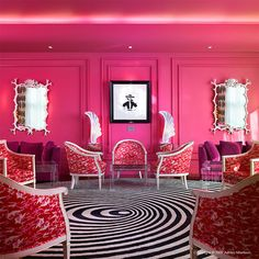 Love the bright pink with graphic black and white!