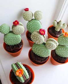 Sharing a favourite Mmm. macaron cactus 💗🌵 Image by Macarons, Kaktus Cupcakes, Cute Food, Yummy Food, Cactus Cake, Macaron Recipe, Raspberry Cheesecake, Savoury Cake, Clean Eating Snacks