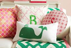 Preppy pillows, LOVE THESE!