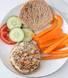 Greek Quinoa Turkey Burgers recipe | These budget friendly, healthy burgers are full of flavor but low in cost.
