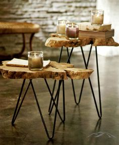 Love these tables- I want to make a few. Also- Love the different heights!