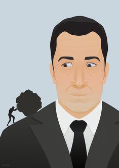 Portrait - Albert Camus - The Myth of Sisyphus, Piotr Tarnman on ArtStation at https://www.artstation.com/artwork/XrXOL #filozof #filozofia #philosophy #philosopher #camus #albert #existentialism #egzystencjaizm #tarnman #affinity #designer #vector #portrait