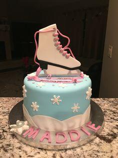 Custom ice skate cake More Ice Skating Cake, Ice Skating Party, Skate Party, Cupcake Cakes, Fondant Cakes, Cupcakes, Ice Ice Baby, Birthday Cake Decorating, Ice Princess