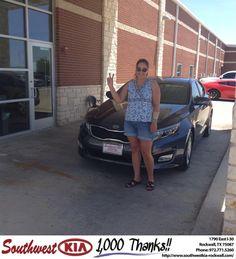 https://flic.kr/p/EPYXeH | #HappyBirthday to Electia from Gary Guyette Jr at Southwest KIA Rockwall! | deliverymaxx.com/DealerReviews.aspx?DealerCode=TYEE