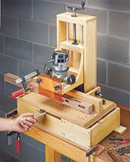 shop-built mortising machine woodworking plan
