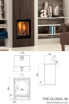 The Global 40 CF is the smallest inset fire within this range.A conventional flue inset gas fire, it can be in Small Gas Fireplace, Inset Fireplace, Dining Room Fireplace, Modern Fireplace, Fireplace Design, Contemporary Interior, Luxury Interior, Building Renovation, Modern Living