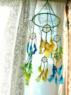 Dream Catcher Mobile by Winchestergems on Etsy, $76.00