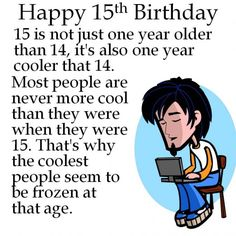15th birthday messages