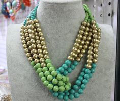 Statement Necklace, Handmade Beaded Necklace, Strand Necklace Beaded, Chunky Necklace, Unique Necklace for Women