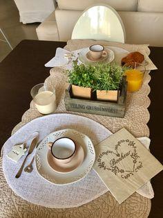 Summer setting for breakfast