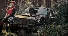 1965 Aston Martin DB6. Hunting girl.