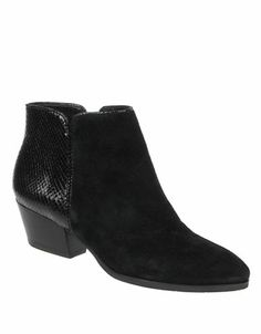 Quasar Short Leather Boots   Lord and Taylor