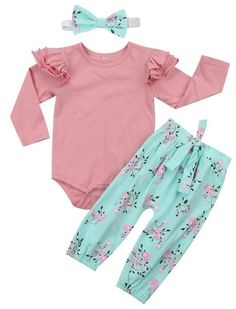 Pink Floral Baby Girl Outfit