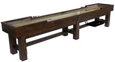 Winchester Shuffleboard 14ft #shuffleboard #dannyveghs Pool Table Movers, Entryway Bench, Dining Bench, Pool Table Felt, Air Hockey, Solid Pine, Winchester, Game Room, Family Room