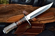 CFK USA Custom Handmade D2 WW II Code Talker Bowie Fighter Trench Combat Knife