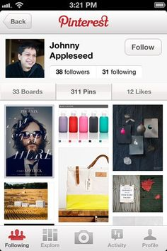 Pinterest iPhone App... because i can't leave home without pinterest. haha :)