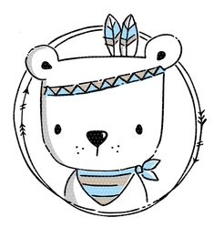 Plotter template Boho Bear Contains the Boho Bear in a . - Boho Bear plotter template The Boho Bear is included in a multicolored doodle - Animal Drawings, Cute Drawings, Tier Doodles, Scrapbooking Image, Embroidery Patterns, Hand Embroidery, Boho Bar, Animal Doodles, Cute Illustration