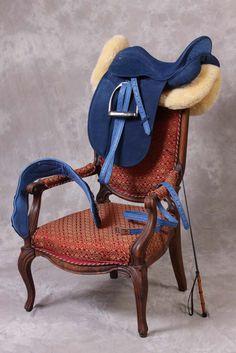 Blue dressage saddle. UMMMmmmm.... =80