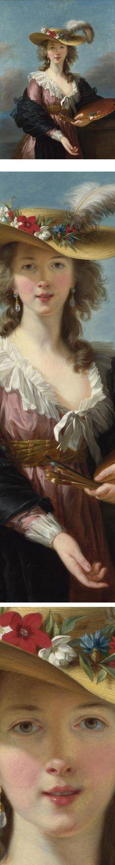 Self Portrait in a Straw Hat, Elisabeth Louise Vigee Le Brun