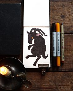 "Inktober day thirty one (happy hallowe'en!) — Black Phillip from The Witch. ""Black Phillip, Black Phillip a crown grows out his head, Black Phillip, Black Phillip to nanny queen is wed. Jump to the fence post, running in the stall. Black Phillip, Black Phillip king of all. Black Phillip, Black Phillip king of sky and land, Black Phillip, Black Phillip King of sea and sand. We are ye servants, we are ye men. Black Phillip eats the lions From the lions' den."" #illustration #fawnlorn…"