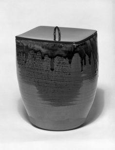 Takatori mizusashi, a ceremonial vessel for clean water. 19th century. (Brooklyn Museum.)