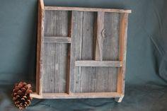 reclaimed barnwood shadow box. $22.00, via Etsy.