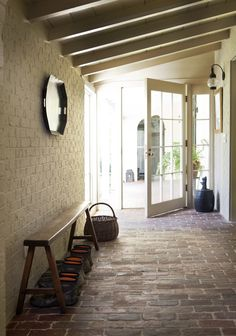 Brick floor love Smythe Park Home in Daniel Island SC by