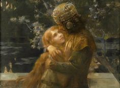 Elsa and Lohengrin. First quarter of the 20th century. Musée des Ursulines, Mâcon, France.  Art by Gaston Bussière.(1862-1928/29?).   http://41.media.tumblr.com/b968504eb8a6f138628b881063b6c144/tumblr_o1gwtcK2Mx1tdo940o1_1280.jpg