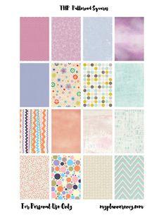 My Planner Envy: Patterned Checklist Squares & Bonus Words/Washi La...