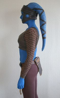 Aayla Secura costume by Asha Tank, via Flickr