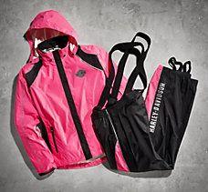 Pink Hi-Vis Packable Rain Suit