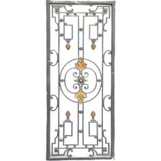 Cast iron window grille period 19th century | From a unique collection of antique and modern windows at https://www.1stdibs.com/furniture/building-garden/windows/