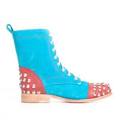 World of LUKA: Studded Boot Womens Turquoise, at 56% off!