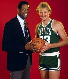 Bill Russell and Larry Bird
