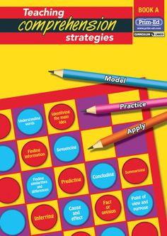 The Teaching Comprehension Strategies series consists of 7 books designed to aid in the development of comprehension for primary school pupils. Comprehension Ks2, Reading Comprehension Skills, English Reading, Teacher Resources, Mathematics, Curriculum, Literacy, How To Apply, Facts