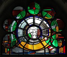 Gereon in Köln Mosaic Glass, Stained Glass, Glass Art, Medieval Houses, Window Panels, Color Theory, Cube, Windows, Mosaics