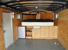 Enclosed Cargo Trailer Camper Conversion - Bing Images                                                                                                                                                                                 More