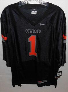 Nike Oklahoma State Cowboys Medium Black #1 Football Jersey New #Nike #OklahomaStateCowboys