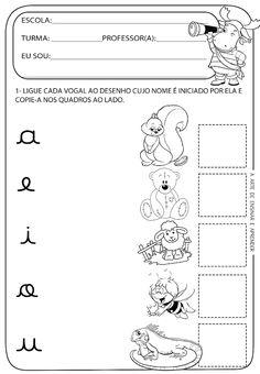 Atividade pronta -  Vogais cursivas