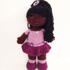 From the first time, i saw her dolls, i just fell in love. ♥ 18 Handmade African American crochet doll von OffDHookCreations