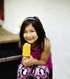 Mango Frozen Yogurt Pops—Inspired by mango lassi, a popular East Indian drink, these all-natural, healthy frozen yogurt pops are a hit with kids
