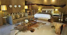 bedroom Sabi Sabi Earth Lodge - droomhotels