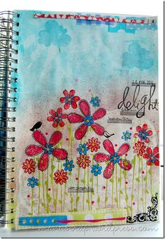 I think I need one art journal just for flowers! :-)