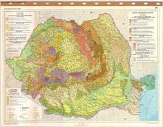 Romania Geology, Vintage World Maps, Wanderlust, Places, Bucharest, Europe, Romania, Travel, Cards