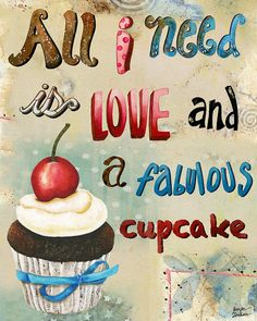 Art Print 11x14. All I Need Is Love And A Fabulous by studiopetite, $22.00