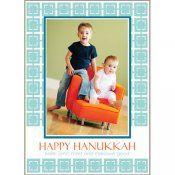 Modern, Preppy Hanukkah Photo Cards from WH Hostess