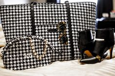 Happy with Houndstooth: @kateireneblue shows off her beautiful monogrammed pieces.