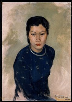 Luong Xuan Nhi signed 1940  Oil on canvas  Hanoi